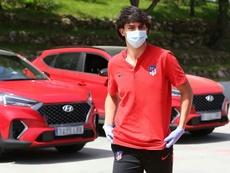 João Félix aparece no CT do Atlético. AFP