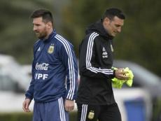 Messi quer que Scaloni siga como treinador. AFP