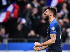 Giroud could make the move from Chelsea to Palace. AFP