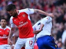 Olivier Giroud, l'attaquant français d'Arsenal, lors du match face à Crystal Palace. AFP
