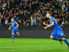 Barella è un nuovo giocatore dell'Inter. AFP
