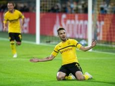 Le Borussia négocie avec Raphael Guerreiro pour le prolonger. AFP