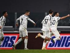 Marcó el tanto de la victoria en la gran noche de su debut. AFP