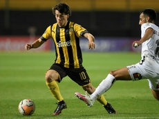Pellistri llegó en verano de Peñarol. AFP