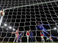 El Arsenal cae en Europa. AFP