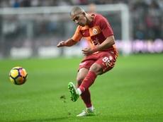 El Galatasaray, con goles de Bayram y Feghouli, ganó al Gaziantep. AFP/Archivo