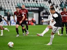 Cristiano Ronaldo a manqué un penalty. AFP