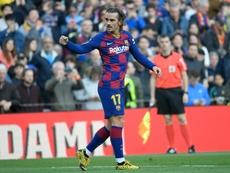 Griezmann le tiene la medida cogida al Bernabéu en Liga. AFP