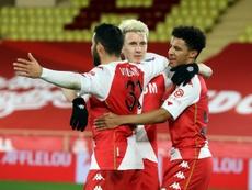 El Mónaco ganó 3-1 al Marsella. Archivo/AFP