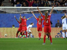 Canadá ya está en octavos del Mundial. AFP