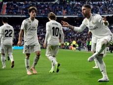 El Madrid suma menos puntos que el año pasado. AFP