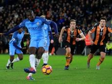Yayá Touré logró el primer gol para los visitantes desde el punto de penalti. AFP