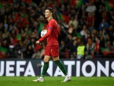 Cristiano Ronaldo, obviado por LaLiga como estrella. AFP