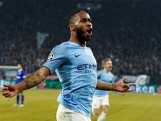 Raheem Sterling struck late to give Manchester City a famous victory. AFP
