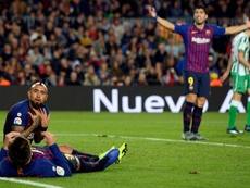 Arturo Vidal and Luis Suarez will not feature against Elche. AFP