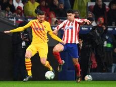 Courtisé par l'Inter, Lenglet veut rester au Barça. AFP