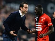 El Rennes salva los muebles en Niza. AFP