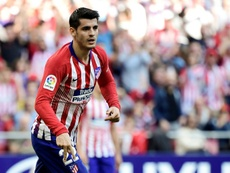 Atletico Madrid want to pay Chelsea for Morata's transfer in 12 months time. AFP