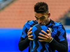 Lautaro olvida los rumores en el Inter. AFP
