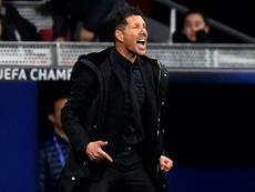 Simeone se volvió loco tras el gol del Atleti. AFP
