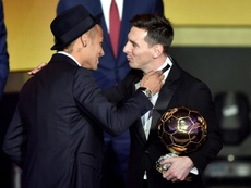 Neymar and Messi are close friends still. AFP