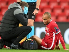 La lesión de Fabinho, de menor alcance al esperado. AFP