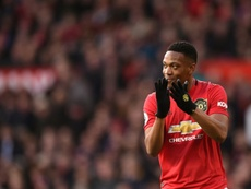 Martial is out of United's game with LASK due to injury. AFP