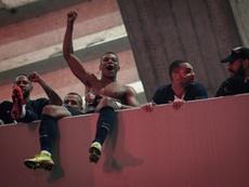 Las celebraciones del pase a cuartos del PSG le han costado una advertencia. AFP/Archivo