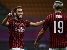 Milan derrotou o Bologna por 5 a 1. AFP