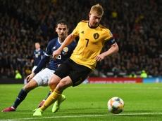 De Bruyne puso condiciones a la reanudación del fútbol. AFP