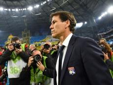 Rudi Garcia, ejemplar: defendió a Depay tras el incidente y se acordó de Sylvinho. AFP