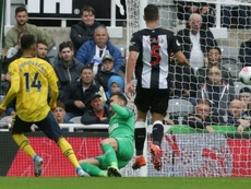 Aubameyang strikes to give Gunners a winning start against encouraging Newscastle. AFP