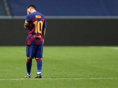 Il presunto messaggio vocale di Messi. AFP
