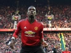 Paul Pogba sigue teniendo su futuro en el aire. AFP/Archivo