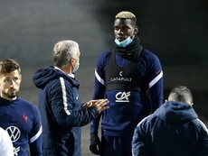 Deschamps hopes that the limelight achieved at France can keep him at United. AFP
