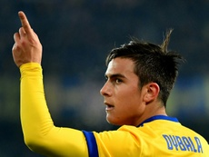 Dybala marcó un doblete ante el Hellas Verona. AFP