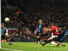 La historia de un gol y un mensaje directo al cielo. AFP