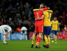 Les nouveaux contrats de Buffon et Chiellini ont fuité. AFP