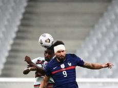 Ruben Dias s'explique sur son coup sur Giroud. AFP