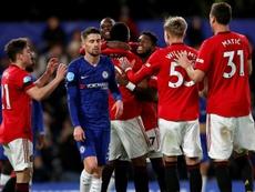 El United piensa en reforzar su plantilla con una joven promesa. AFP