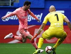 Les compos probables du match de Liga entre le Barça et Eibar. EFE