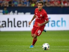 Coutinho impresionó en su llegada a Múnich. AFP
