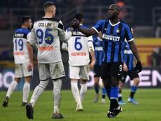 Inter y Atalanta empatan. AFP