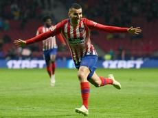 Correa, de rojiblanco a 'rossonero'. AFP/Archivo