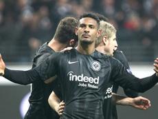 Sebastien Haller estuvo en el punto de mira del Bayern. AFP/Archivo