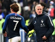 Deschamps alabó la actitud de Griezmann. AFP