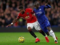 O Chelsea perde Kanté para duelo contra o United. AFP
