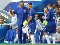 Hazard no funciona como 'falso 9'. AFP