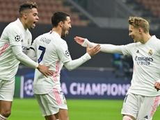 Le Real Madrid quitte Milan avec le sourire. AFP
