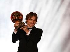 Modric gagne le Ballon d'Or 2018. AFP